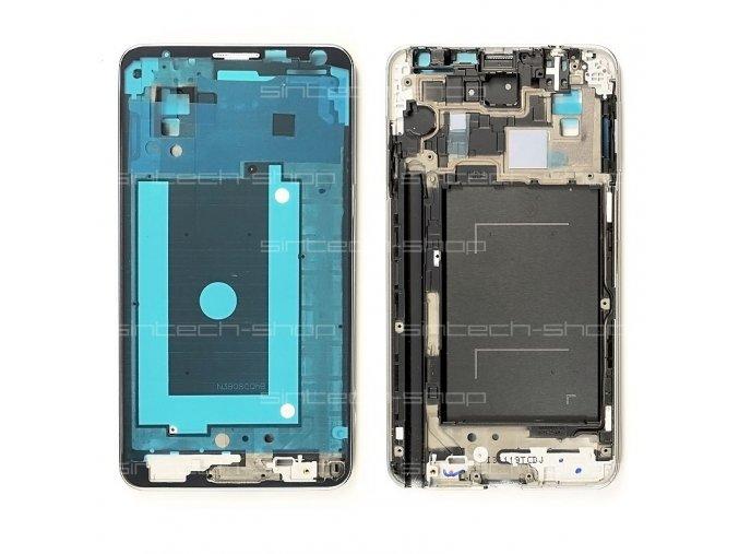 Samsung Galaxy Note 3 N9005 LTE přední rám, stříbrný