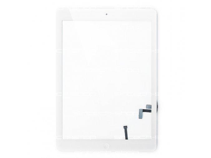 iPad Air čelní sklo + digitizer - bílý SINTECH© Premium, osazený Home button