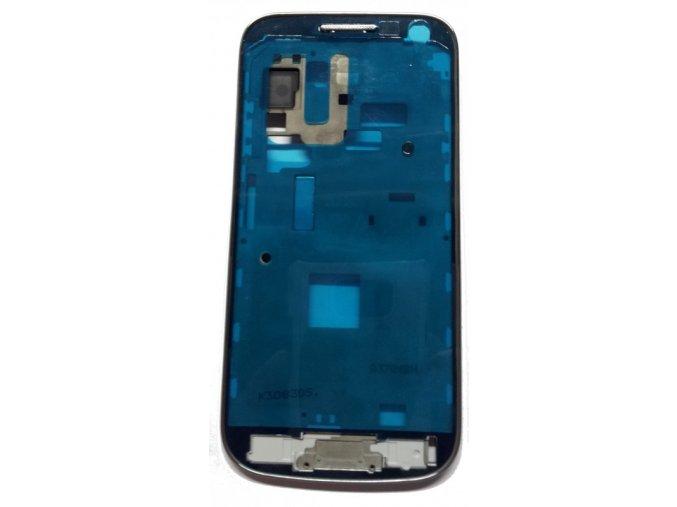 Samsung Galaxy S4 Mini přední rám stříbrný i9195