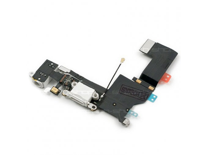 iPhone 5S nabíjecí konektor Lightning port se sluchátkovým jackem a mikrofonem bílý