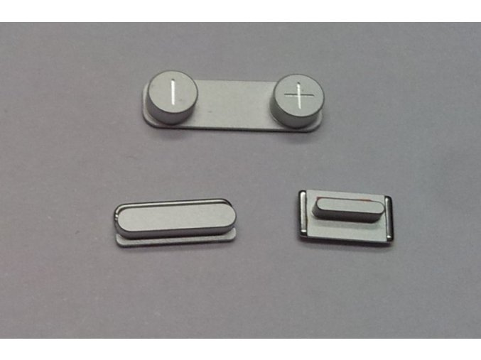 iPhone 5S stříbrný set tlačítek (volume, mute a power button)