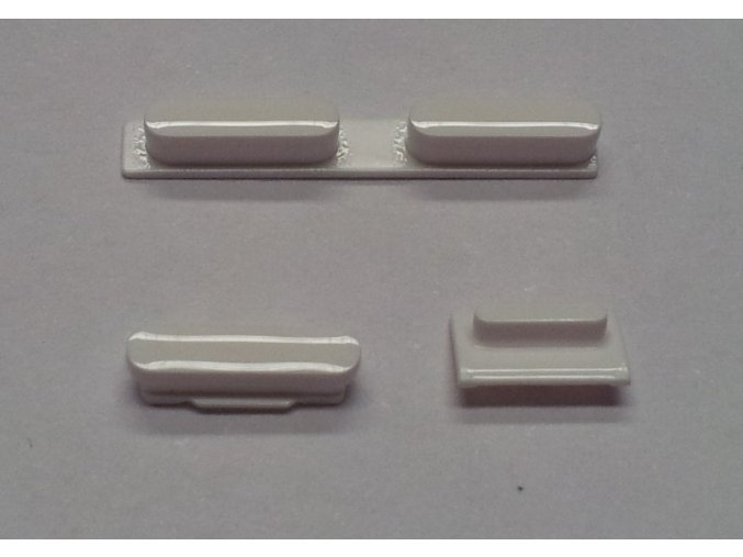 iPhone 5C set tlačítek bílý (volume, mute a power button)