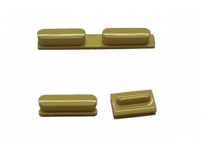 Set tlačítek pro iPhone 5C, žlutý