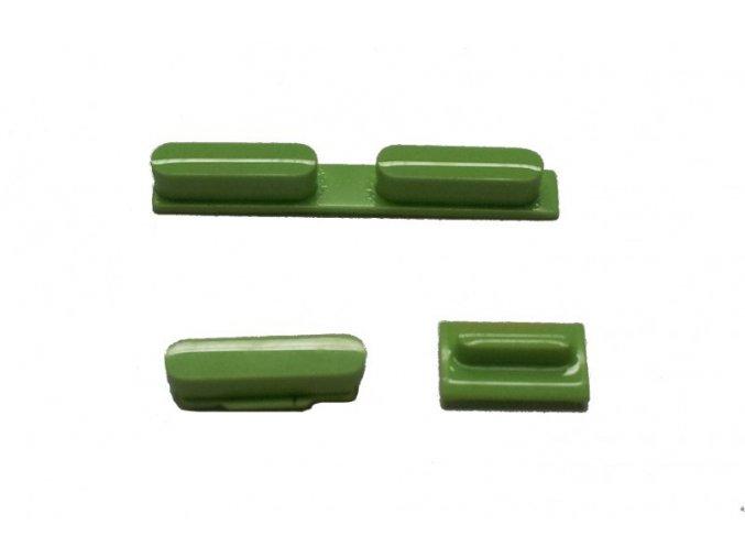 Set tlačítek pro iPhone 5C, zelený