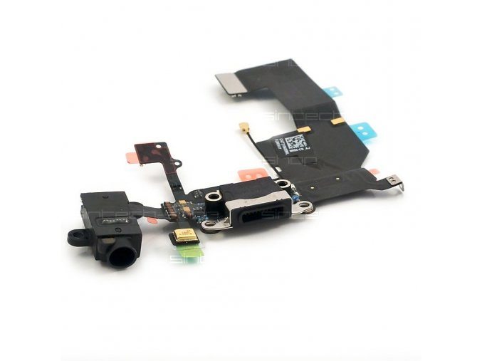 iPhone 5C Docking port s jackem sluchátek a flexkabelem, černý