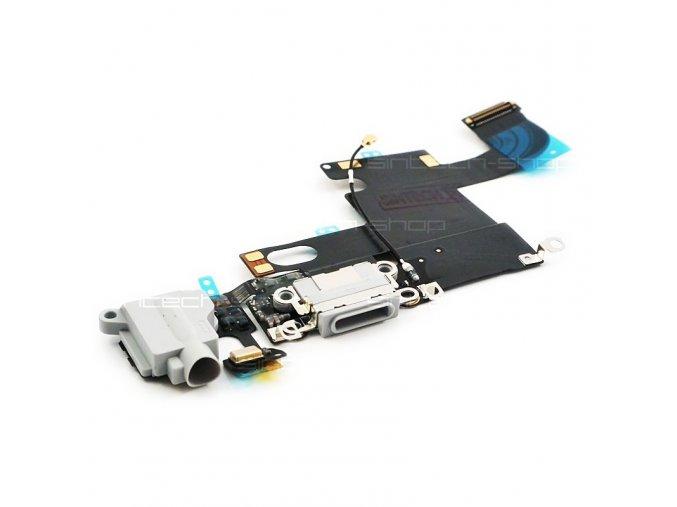 iPhone 6 nabíjecí konektor Lightning se sluchátkovým jackem a mikrofonem, bílý