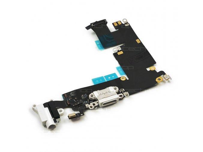 """iPhone 6 Plus (5,5"""") nabíjecí konektor se sluchátkovým jackem a mikrofonem, bílý"""