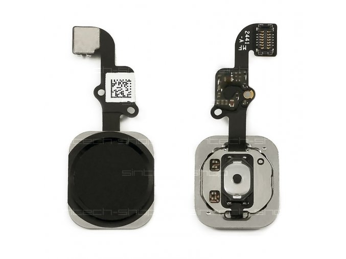 iPhone 6 / 6 Plus Home Button včetně flex kabelu - černý