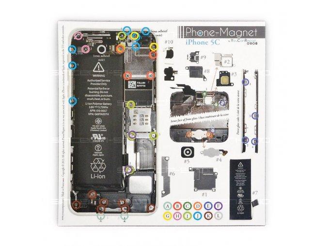 Phone-Magnet: profesionální magnetická podložka pro šrouby iPhone 5C