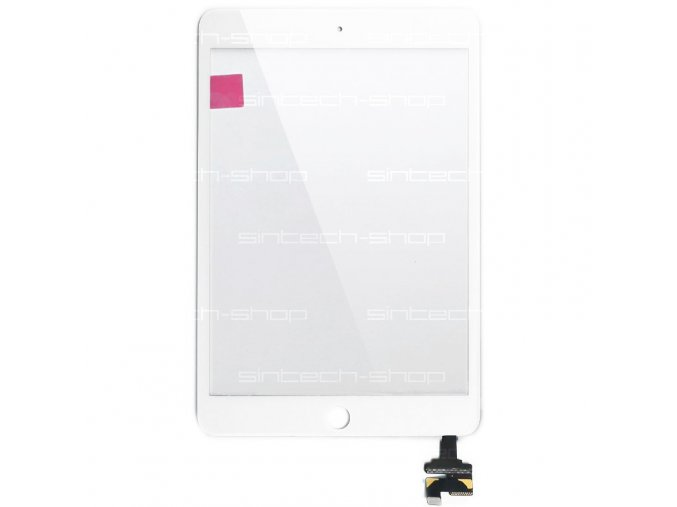 iPad Mini 3 sklo + digitizer - bílý SINTECH© Premium, s IC chipem