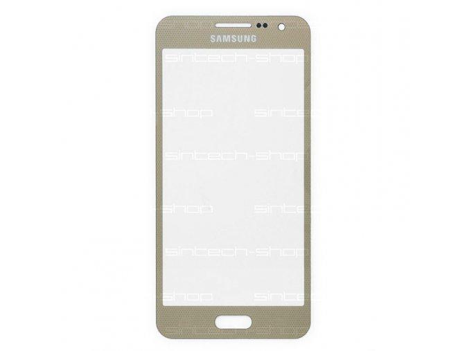 Samsung Galaxy A3 2015 (A300F) čelní dotykové sklo, zlaté (Champagne gold)