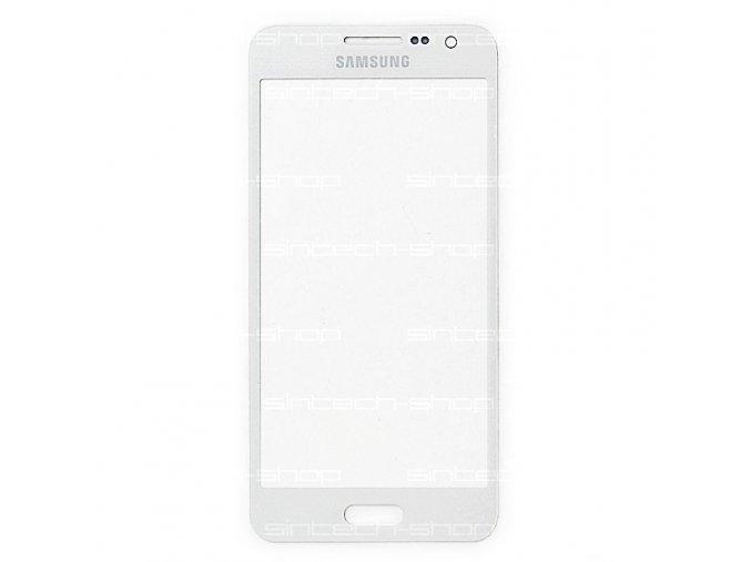 Samsung Galaxy A3 2015 (A300F) čelní dotykové sklo, bílé (Platinium Pearl white)