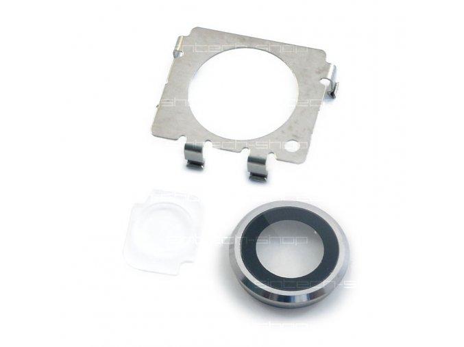"""iPhone 6 Plus (5,5"""") zadní sklo fotoaparátu s rámečkem stříbrné"""
