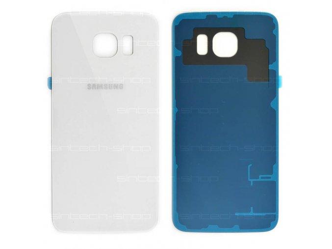 Samsung Galaxy S6 G920F zadní skleněný kryt baterie, bílý
