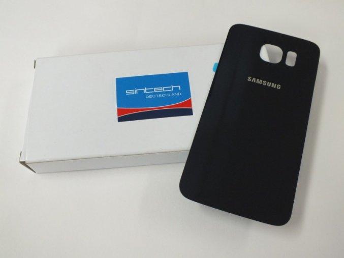 Samsung Galaxy S6 G920F zadní skleněný kryt baterie, černý