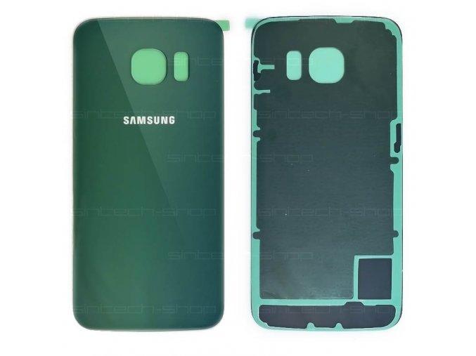 Samsung Galaxy S6 Edge G925F zadní skleněný kryt, zelený