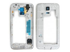 Samsung Galaxy S5 G900f středový rám stříbrný
