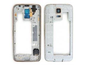 Samsung Galaxy S5 G900f středový rám zlatý