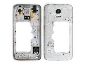 Samsung Galaxy S5 mini G800f středový rám stříbrný