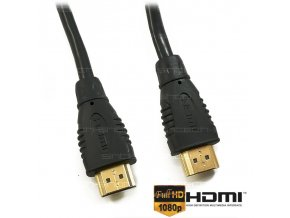 HDMI-HDMI 1.4 kabel 5m, POZLACENÉ KONEKTORY