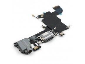 iPhone 6S nabíjecí konektor se sluchátkovým jackem a flexem, šedý