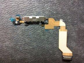 iPhone 4S systémový konektor s flex kabelem - bílý