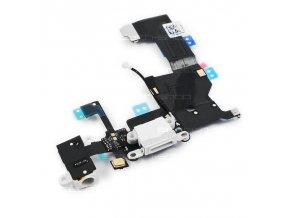 iPhone 5 nabíjecí konektor lightning s flex kabelem - bílý
