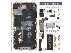 Phone-Magnet: profesionální magnetická podložka pro šrouby iPhone 4S