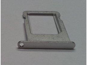 iPhone 5 (bílý) Nano Sim card držák, stříbrný