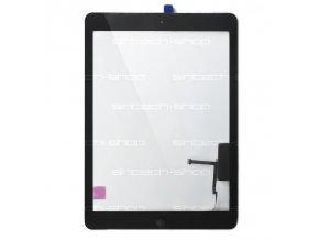 iPad Air (A1474) čelní sklo + digitizer - černý SINTECH© Premium, osazený Home button