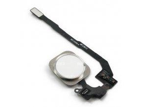iPhone 5S/SE stříbrný Home Button včetně flex kabelu