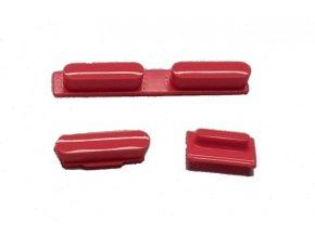 Set tlačítek pro iPhone 5C, červený