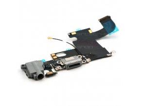 iPhone 6 nabíjecí konektor Lightning se sluchátkovým jackem a mikrofonem, šedý