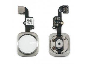 iPhone 6 / 6 Plus Home Button včetně flex kabelu - stříbrný