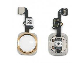iPhone 6 / 6 Plus Home Button včetně flex kabelu - zlatý