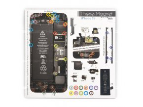 Phone-Magnet: profesionální magnetická podložka pro šrouby iPhone 5S