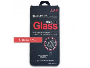 iPhone 4/4S ochranné tvrzené sklo 9H, SINTECH© Premium