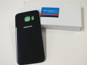 Samsung Galaxy S6 Edge G925F zadní skleněný kryt, černý safír