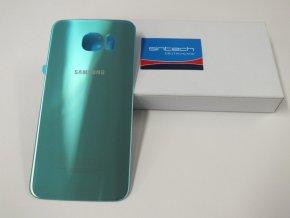 Samsung Galaxy S6 G920F zadní skleněný kryt, modrý topaz