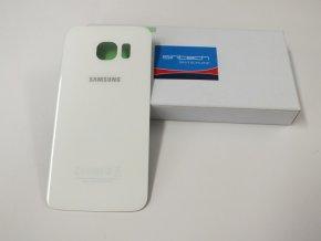 Samsung Galaxy S6 Edge G925F zadní skleněný kryt, bílý