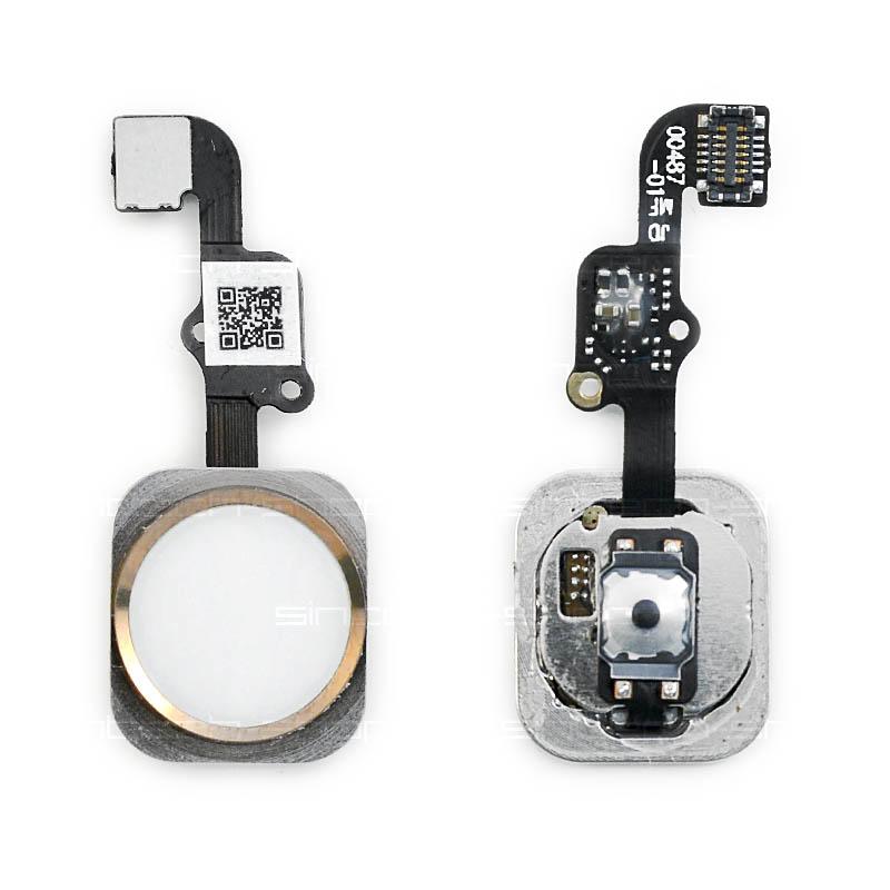 iPhone 6S / 6S Plus Home Button včetně flex kabelu - růžový