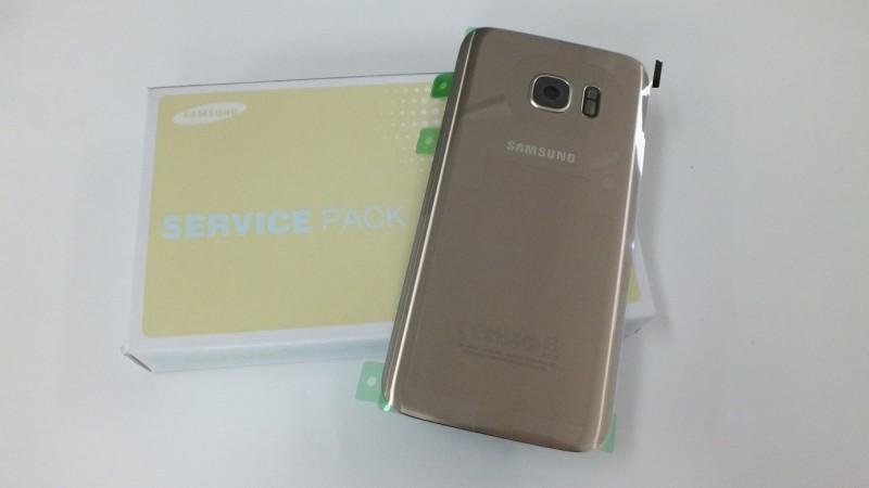 Samsung Galaxy S7 G930F zadní skleněný kryt baterie zlatý