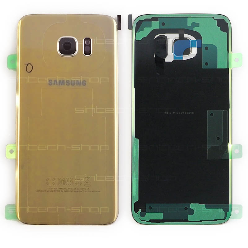 Samsung Galaxy S7 Edge G935F zadní skleněný kryt baterie zlatý
