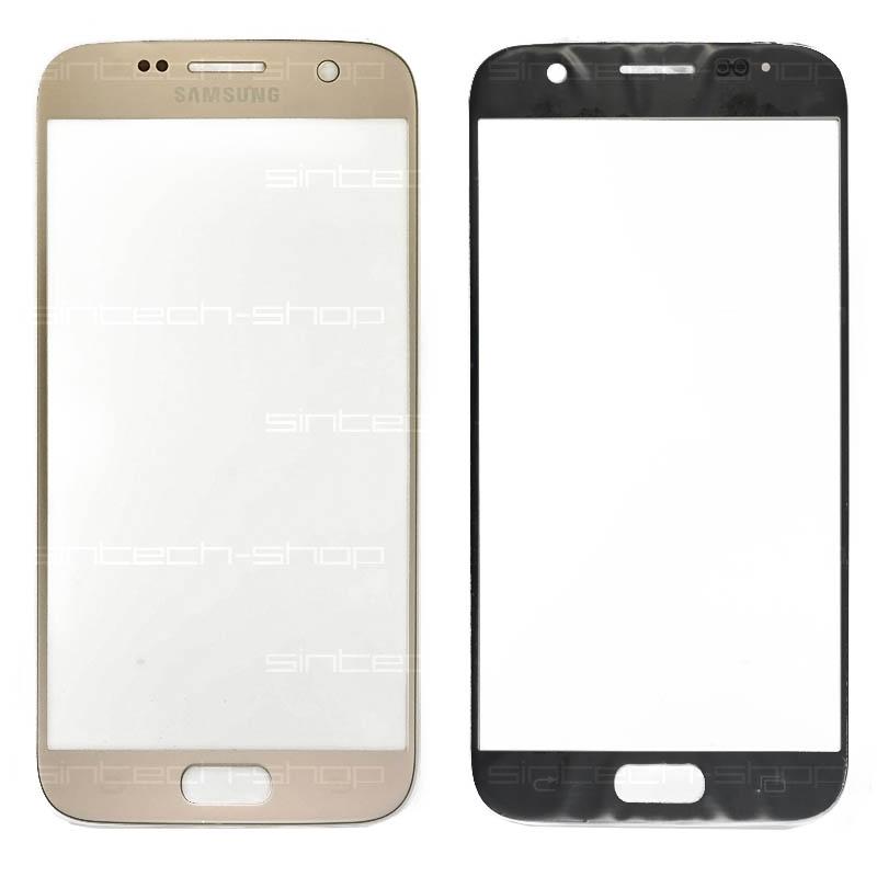 Samsung Galaxy S7 G930F zlaté čelní dotykové sklo