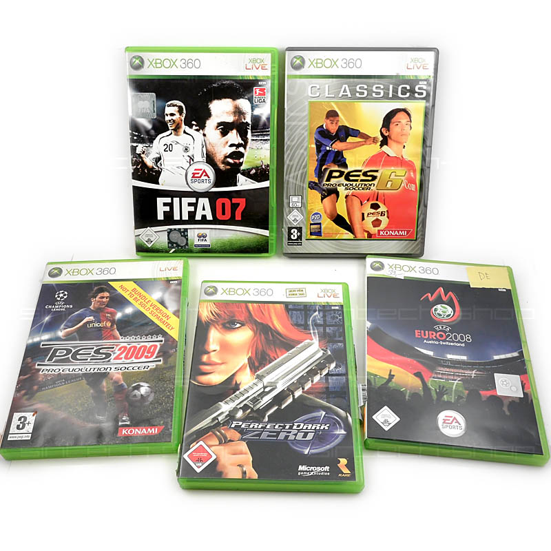 Hry pro xbox 360, SET 5ks (FIFA08, Perfect Dark Zero, Euro...)