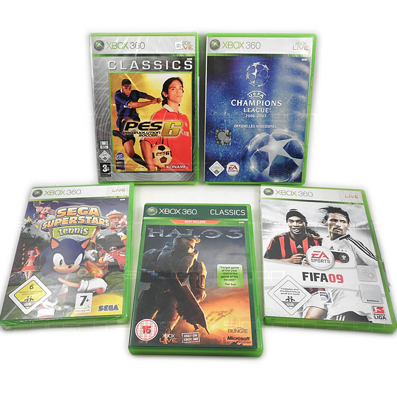 Hry pro xbox 360, SET 5ks (HALO3, Sega Superstars Tennis, FIFA..)