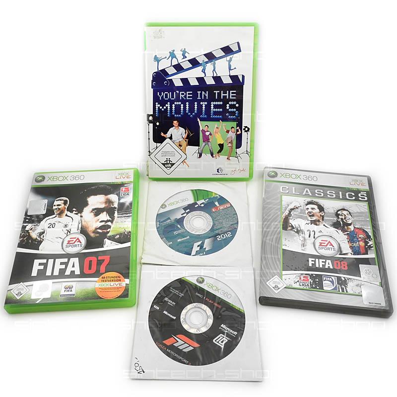 Hry pro xbox 360, SET 5ks (FIFA, Forza Motorsport 3, F1 2012,...)