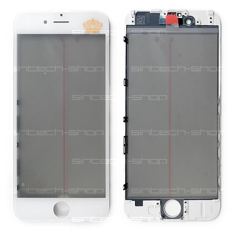 iPhone 6 čelní dotykové sklo s rámem a OCA lepící vrstvou PREMIUM - bílé