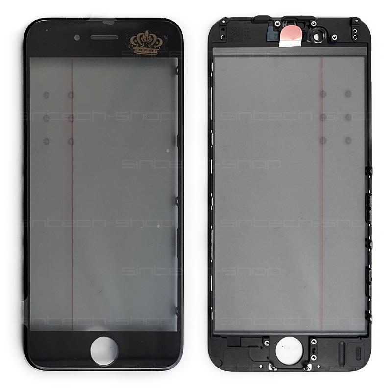 iPhone 6 čelní dotykové sklo s rámem a OCA lepící vrstvou PREMIUM - černé