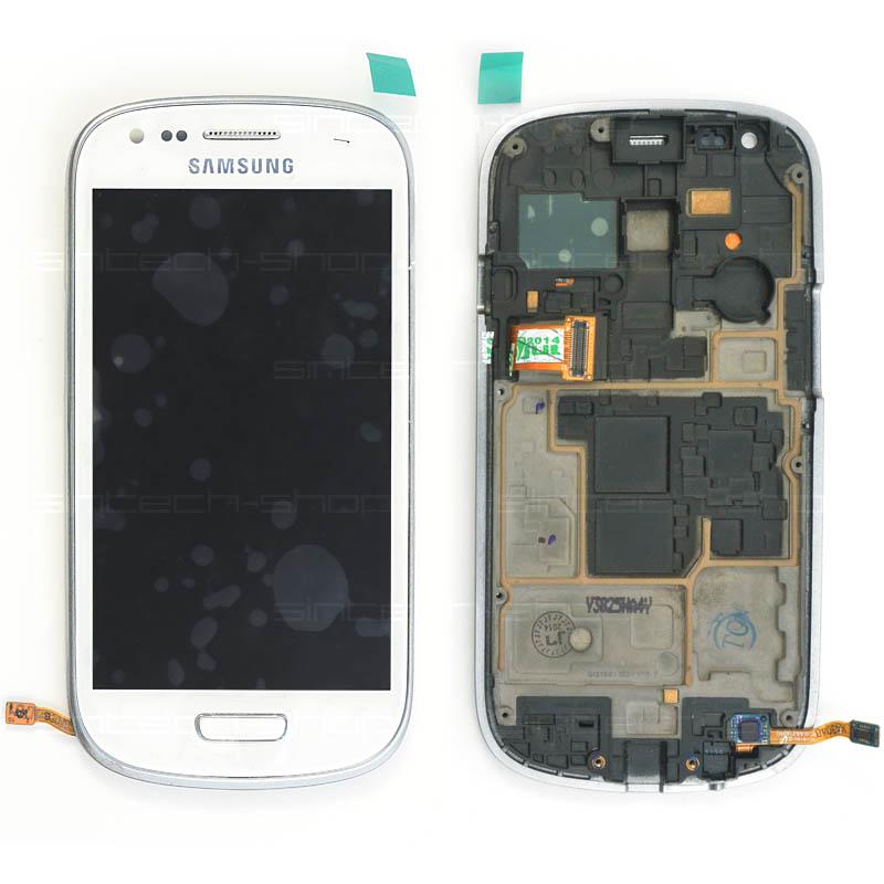 Samsung Galaxy S3 mini i8190 kompletní displej s rámem a LCD bílý